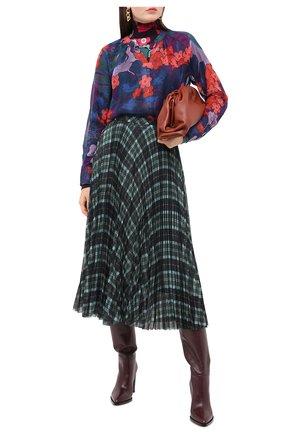 Женская шелковая блузка DRIES VAN NOTEN фиолетового цвета, арт. 202-30754-1084 | Фото 2