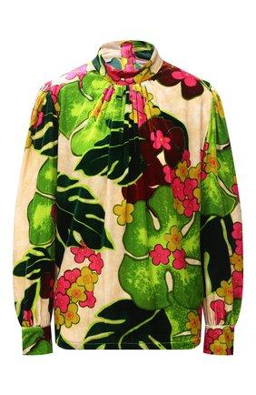 Женская блузка из вискозы и шелка DRIES VAN NOTEN зеленого цвета, арт. 202-30790-1009 | Фото 1