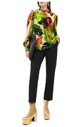 Женская блузка из вискозы и шелка DRIES VAN NOTEN зеленого цвета, арт. 202-30790-1009 | Фото 2
