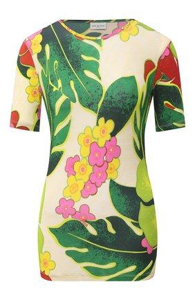 Женская футболка из вискозы DRIES VAN NOTEN зеленого цвета, арт. 202-31110-1615 | Фото 1