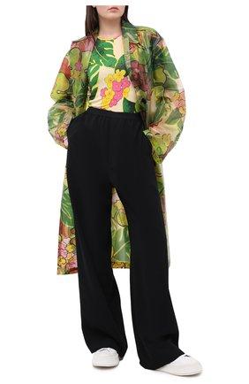 Женская футболка из вискозы DRIES VAN NOTEN зеленого цвета, арт. 202-31110-1615 | Фото 2
