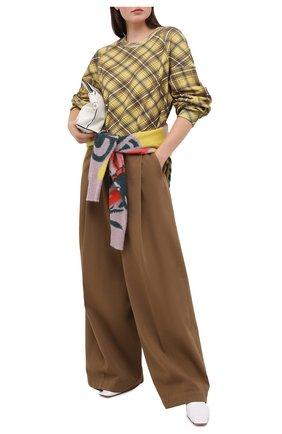 Женская хлопковый свитшот DRIES VAN NOTEN желтого цвета, арт. 202-31160-1621 | Фото 2
