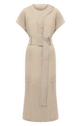 Женское замшевое платье RUBAN бежевого цвета, арт. RFW20/21-12.1.29.3 | Фото 1