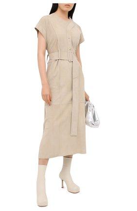 Женское замшевое платье RUBAN бежевого цвета, арт. RFW20/21-12.1.29.3 | Фото 2