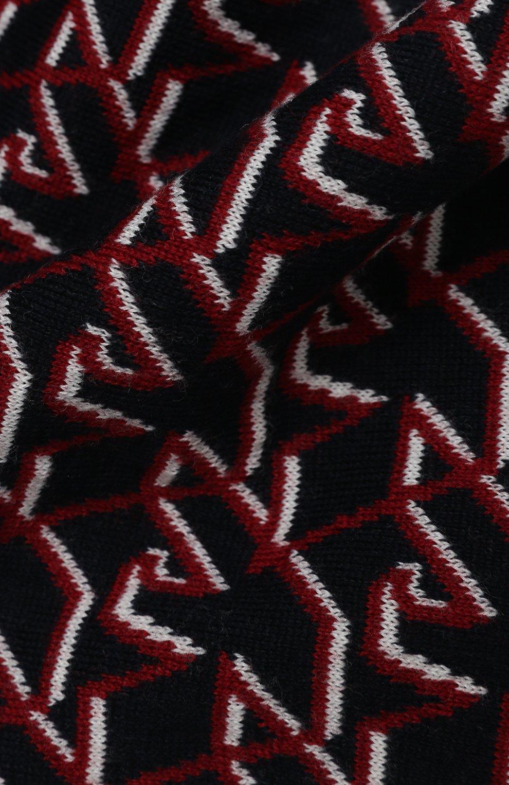 Детский комплект из шапки и шарфа EMPORIO ARMANI синего цвета, арт. 407509/0A757   Фото 6 (Материал: Текстиль, Шерсть)