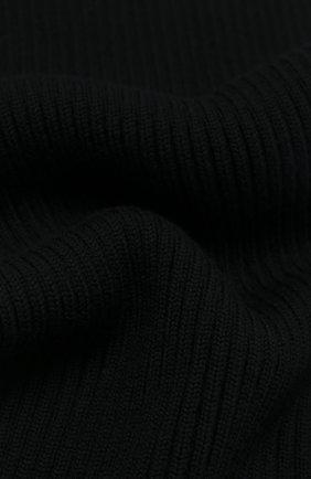 Детский шерстяной шарф DOLCE & GABBANA черного цвета, арт. LBKA65/JAVYI | Фото 2 (Материал: Шерсть)