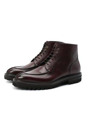 Мужские кожаные ботинки W.GIBBS бордового цвета, арт. 7260010/2197 | Фото 1
