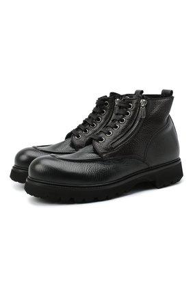 Мужские кожаные ботинки ROCCO P. черного цвета, арт. 7021/ANTIC | Фото 1