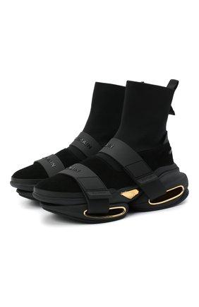 Мужские текстильные кроссовки b-bold BALMAIN черного цвета, арт. UM1C229/TKSE | Фото 1