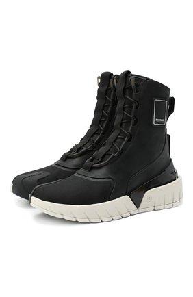 Мужские комбинированные ботинки b-army BALMAIN черно-белого цвета, арт. UM1C231/LSCV | Фото 1