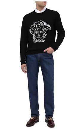 Мужские кожаные лоферы LANVIN бордового цвета, арт. FM-FSSL00-R0IS-A20 | Фото 2