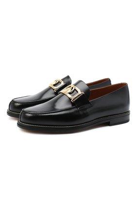 Мужские кожаные лоферы LANVIN черного цвета, арт. FM-FSSL00-R0IS-A20 | Фото 1