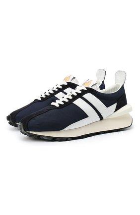 Мужские комбинированные кроссовки LANVIN темно-синего цвета, арт. FM-SKBRUC-DRAG-A20 | Фото 1
