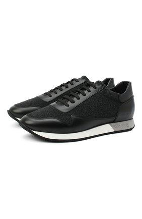 Мужские комбинированные кроссовки ALDO BRUE черного цвета, арт. ABS33.NSC.P.MI   Фото 1