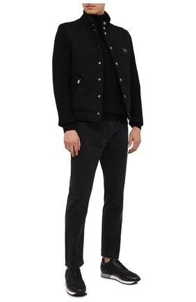 Мужские комбинированные кроссовки ALDO BRUE черного цвета, арт. ABS33.NSC.P.MI   Фото 2