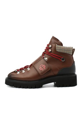 Мужские кожаные ботинки DSQUARED2 коричневого цвета, арт. ABM0055 01501574   Фото 3