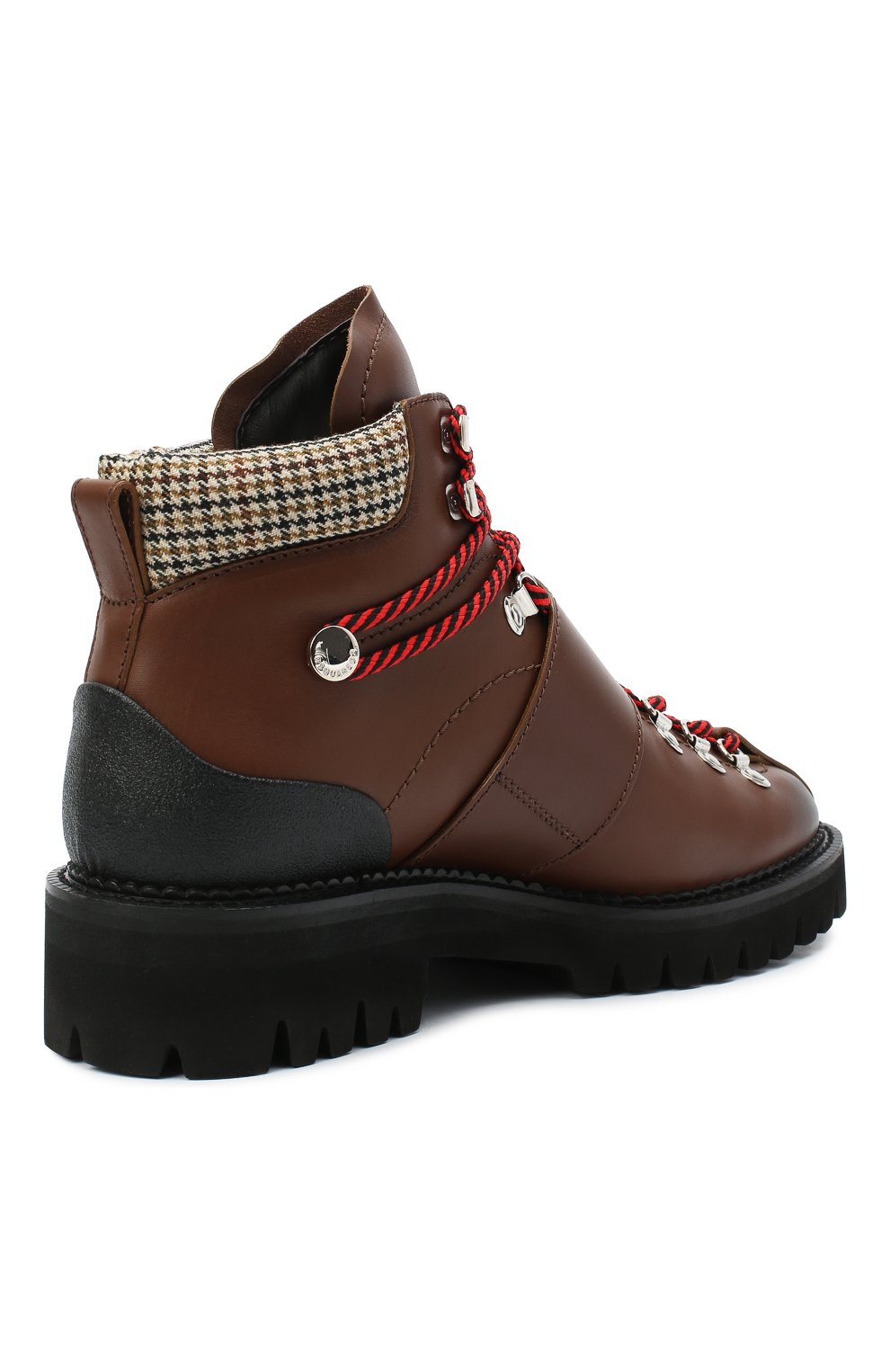 Мужские кожаные ботинки DSQUARED2 коричневого цвета, арт. ABM0055 01501574   Фото 4