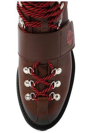 Мужские кожаные ботинки DSQUARED2 коричневого цвета, арт. ABM0055 01501574   Фото 5