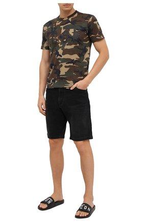 Мужские шлепанцы DSQUARED2 черного цвета, арт. FFM0016 17200001 | Фото 2