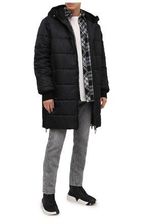 Мужская утепленное пальто DOLCE & GABBANA черного цвета, арт. G9S02T/HUMBF | Фото 2