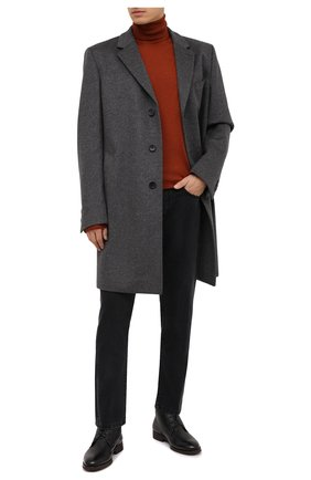 Мужские кожаные ботинки MORESCHI черного цвета, арт. 43568/162/CERV0/F.PELLICCIA | Фото 2