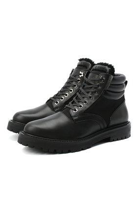 Мужские кожаные ботинки JIMMY CHOO черного цвета, арт. 0DIN/SVS | Фото 1