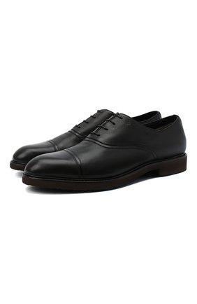 Мужские кожаные оксфорды MORESCHI черного цвета, арт. 43548/EM/GI0VE/F.PELLICCIA | Фото 1