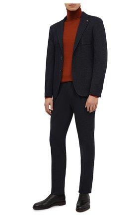Мужские кожаные оксфорды MORESCHI черного цвета, арт. 43548/EM/GI0VE/F.PELLICCIA | Фото 2