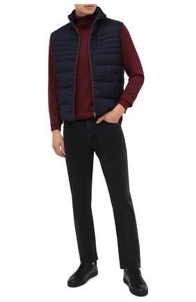 Мужские кожаные кеды MORESCHI черного цвета, арт. 43621/CQ/CERV0/F.PELLICCIA | Фото 2