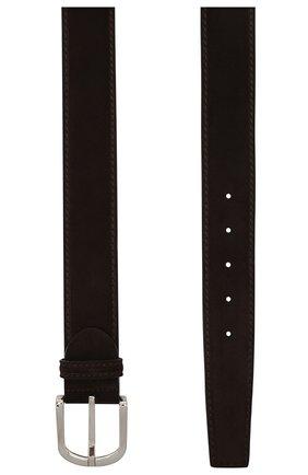 Мужской замшевый ремень BARRETT темно-коричневого цвета, арт. 92B565.27/REPELL0 0IL | Фото 2
