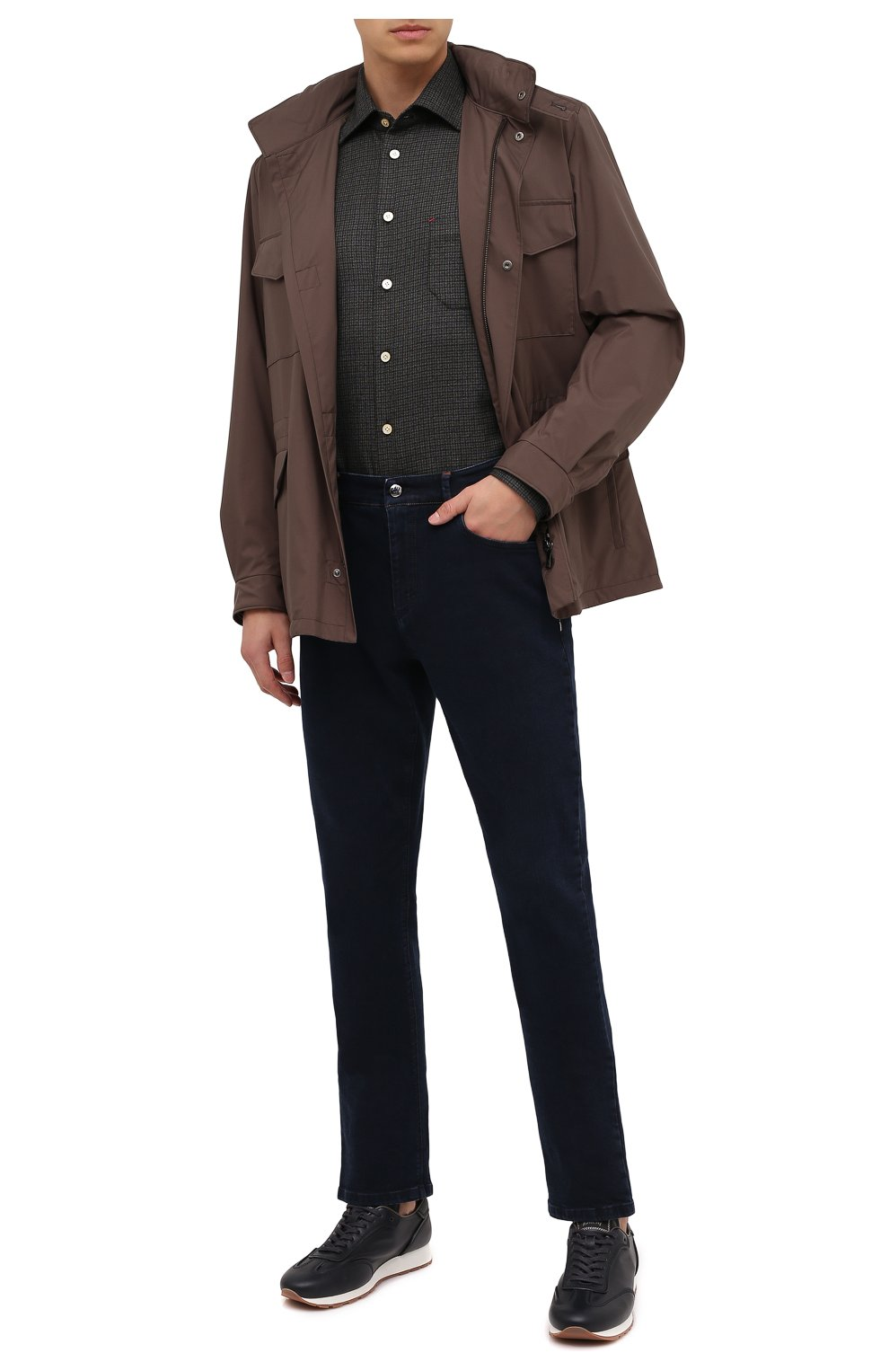 Мужские джинсы ZILLI темно-синего цвета, арт. MCU-00041-DEBB1/S001 | Фото 2