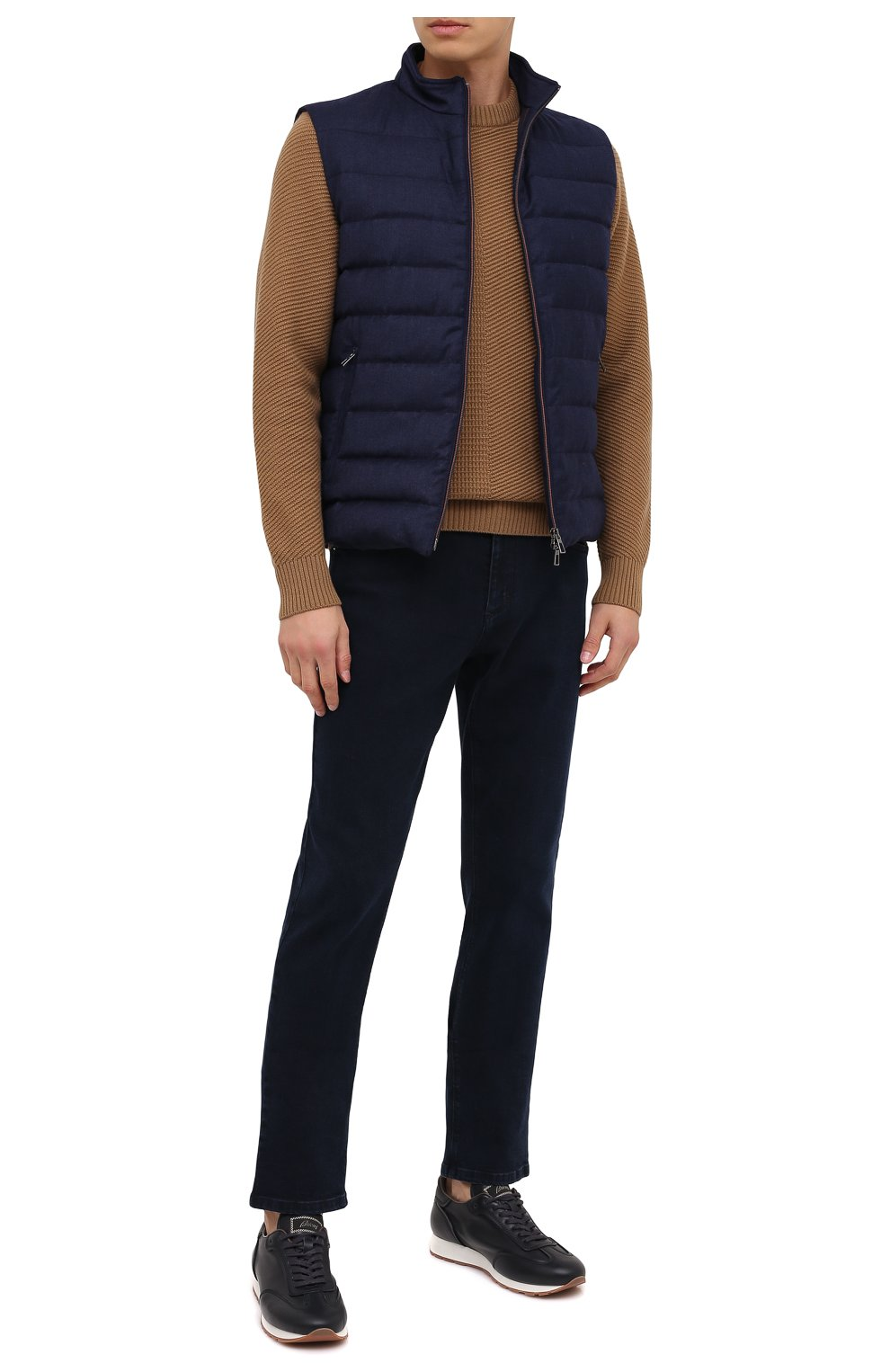Мужские джинсы ZILLI темно-синего цвета, арт. MCU-00041-DEBB1/S001 | Фото 3