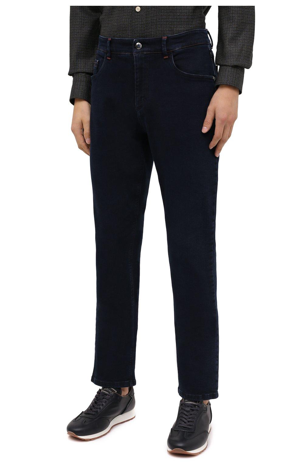 Мужские джинсы ZILLI темно-синего цвета, арт. MCU-00041-DEBB1/S001 | Фото 4