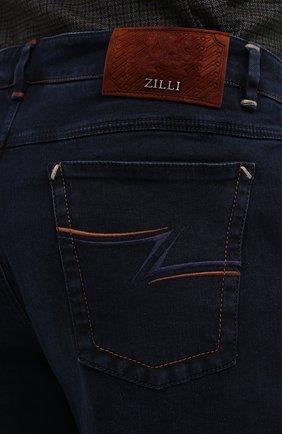 Мужские джинсы ZILLI темно-синего цвета, арт. MCU-00041-DEBB1/S001 | Фото 6