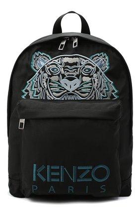 Мужской текстильный рюкзак KENZO черного цвета, арт. FA65SF300F20   Фото 1