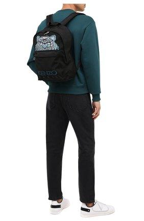 Мужской текстильный рюкзак KENZO черного цвета, арт. FA65SF300F20   Фото 2