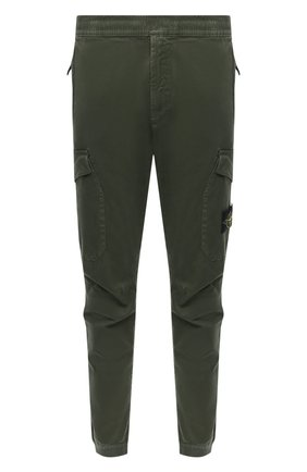 Мужской хлопковые брюки-карго STONE ISLAND зеленого цвета, арт. 7315314L1 | Фото 1