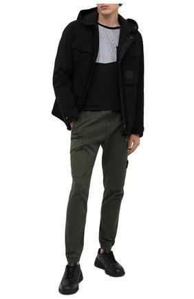 Мужской хлопковые брюки-карго STONE ISLAND зеленого цвета, арт. 7315314L1 | Фото 2