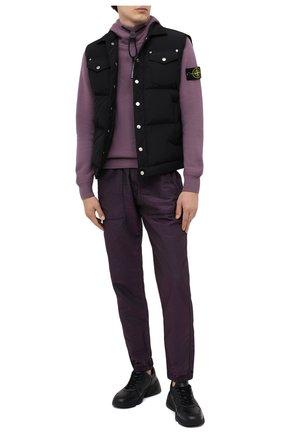 Мужской джоггеры STONE ISLAND фиолетового цвета, арт. 731563734 | Фото 2