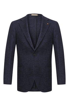 Мужской пиджак из шерсти и хлопка SARTORIA LATORRE темно-синего цвета, арт. JEF74 JA3311 | Фото 1
