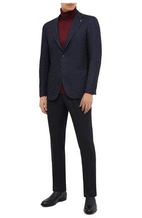 Мужской пиджак из шерсти и хлопка SARTORIA LATORRE темно-синего цвета, арт. JEF74 JA3311 | Фото 2