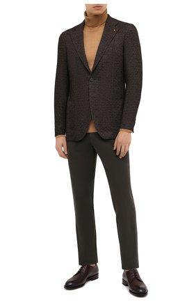 Мужской пиджак из шерсти и хлопка SARTORIA LATORRE темно-коричневого цвета, арт. JEF74 JA3133 | Фото 2