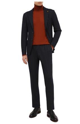Мужской костюм из хлопка и шерсти SARTORIA LATORRE темно-синего цвета, арт. JDEC0/0 JA3303 | Фото 1