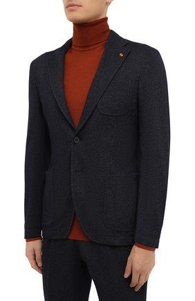 Мужской костюм из хлопка и шерсти SARTORIA LATORRE темно-синего цвета, арт. JDEC0/0 JA3303 | Фото 2