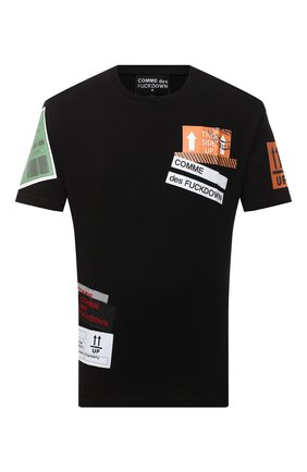 Мужская хлопковая футболка COMME DES FUCKDOWN черного цвета, арт. CDFU994 | Фото 1