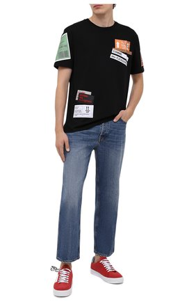 Мужская хлопковая футболка COMME DES FUCKDOWN черного цвета, арт. CDFU994 | Фото 2