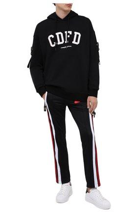 Мужской хлопковые брюки COMME DES FUCKDOWN черного цвета, арт. CDFU984 | Фото 2