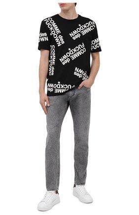 Мужская хлопковая футболка COMME DES FUCKDOWN черного цвета, арт. CDFU971 | Фото 2