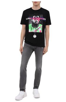 Мужская хлопковая футболка COMME DES FUCKDOWN черного цвета, арт. CDFU1086 | Фото 2