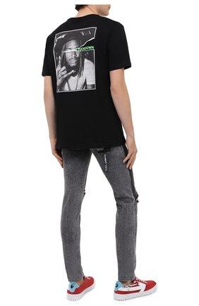 Мужская хлопковая футболка COMME DES FUCKDOWN черного цвета, арт. CDFU1077 | Фото 2